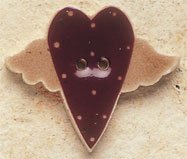43033 - Flying Folk Heart - 1 1/4in x 1in